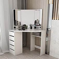 clipop dressing table mirror set makeup vanity table with