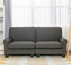70 inch sofa for living room gray upholstered soft and