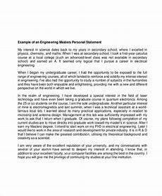 Personal Statement For Graduate School Examples 11 Graduate School Personal Statement Examples Free