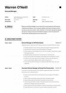 Resume O General Manager Resume Amp Writing Guide 12 Resume