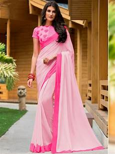 Light Green With Pink Saree Elegance Light Pink Saree With Embroidered Blouse