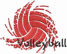 Cool Volleyball Designs Datastitch Embroidery Design Sport Volleyball 2 70 Inches