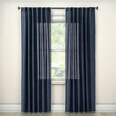 Target Light Filtering Curtains 95 Quot X54 Quot Stitched Edge Light Filtering Curtain Panel Navy