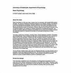 Psychology Case Study Template Case Study Format Example How To Write A Case Study Apa