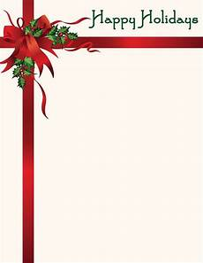 Holiday Letterhead Free Download Christmas Letterhead Happy Holidays Wholesale Stationery