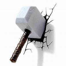 Mjolnir Night Light 2019 Popular 3d Wall Art Thor Hammer Night Light