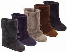 stricken schuhe womens rib knit sweater crochet boots 5 colors available