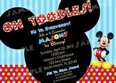 Custom Mickey Mouse Invitations Free Printable Mickey Mouse Invitatons Birthday Drevio