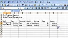 Movie Database Spreadsheet Microsoft Excel Tutorial For Beginners 25 Database Pt 1
