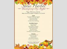 Thanksgiving Day Buffet   Stone Harbor Resort