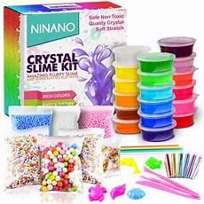 diy fluffy slime kit comes 18 colors