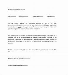 Secured Promissory Note Template Word Secured Promissory Note Templates 9 Free Word Excel