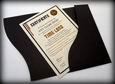 Certificate Folder Design Dr Who Time Lord Style Certificate In A Luxury