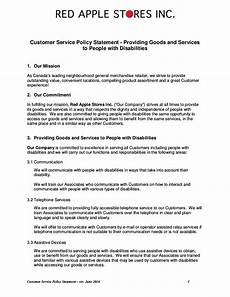 Business Policy Example Free 21 Customer Service Policy Examples In Pdf Google