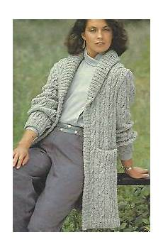 cable jacket knitting pattern with shawl