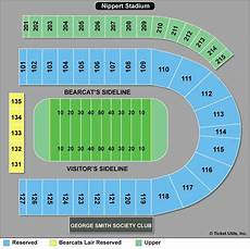 Shorts Stadium Seating Chart Cincinnati Bearcats Football Tickets 2018 Games Ticketcity