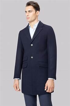dkny slim fit navy twill coat