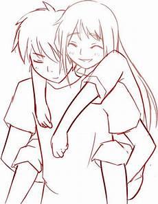 Anime Malvorlagen List Anime Couples Drawings Huckepack Vorlage