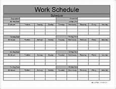 Working Schedule Format Work Schedule Templates Find Word Templates