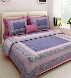 buy cotton 160tc bedsheet with 2 pillow covers by