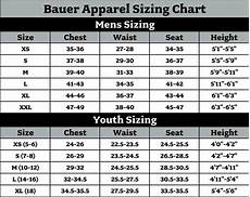 Bauer Nexus Pants Sizing Chart Bauer Size Chart K Amp B Outfitters