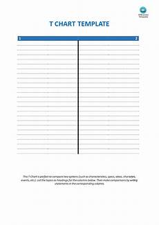 Blank T Chart Template Blank T Chart Template Templates At Allbusinesstemplates Com