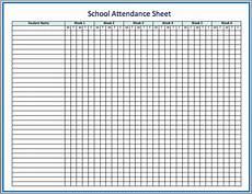 Free Printable Attendance Chart Free Printable Attendance Sheet Template For Teachers