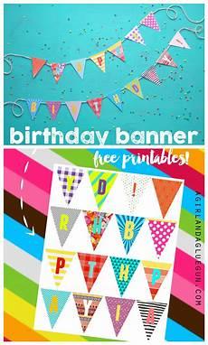 Colorful Happy Birthday Banner Birthday Banner Printables Diy Birthday Banner Happy