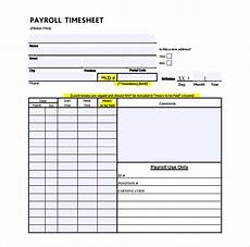 Wages Timesheet Template 24 Payroll Timesheet Templates Amp Samples Doc Pdf