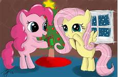 Fluttershy Christmas Lights Present Christmas My Little Pony Fluttershy Pinkie Pie
