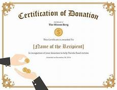 Charity Gift Certificates 7 Printable Donation Certificates Templates