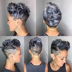 undercut asymmetrisch kurzhaarfrisuren step 5 coiffures cheveux courts id 233 es cheveux courts