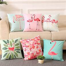Summer Throws For Sofa 3d Image by 18 Inch Summer Flamingo Throw Pillow Sofa Bed Home