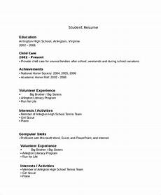 Resume For High School Student With No Work Experience 10 High School Resume Templates Examples Samples Format