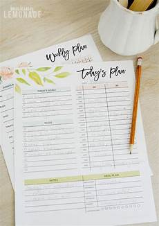 Weekly Monthly Planners Get Your Free 2018 Printable Planner With Daily Weekly