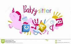 Babysitting Signs Signboard Or Logo For Babysitter Stock Vector