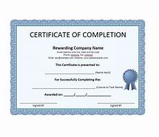 Certificate Of Successful Completion Certificate Of Completion Templates 10 Free Printable