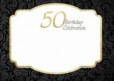 50th Birthday Invitations Free Free Printable 50th Birthday Invitations Template Drevio