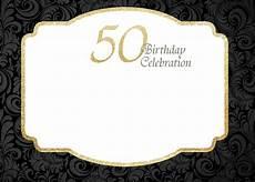 50th Birthday Invites Templates Free Printable 50th Birthday Invitations Template Drevio