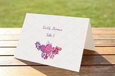 Wedding Place Cards Templates Free Wedding Place Card Template Card Templates Creative Market