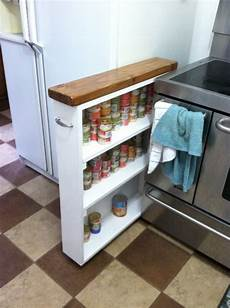 made for that awkward space between fridge and stove