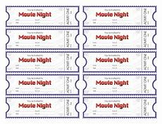 Ticket Making Template Make Your Own Movie Night Tickets Sheknows