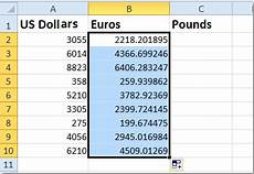 Euro Conversion To American Dollars Chart How To Quickly Convert Between Dollars Pounds Euros In