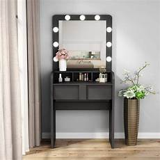 tribesigns vanity table set with lighted mirror makeup
