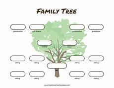 Three Generation Family Tree Chart 3 Generation Family Tree Many Siblings Template Free