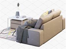 Sofa Storage 3d Image by Two Seat Sofa 2 3d Model Storage Footstool Seating Sofa