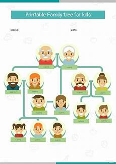 Printable Family Tree For Kids Printable Family Tree For Kids Template In Microsoft Word