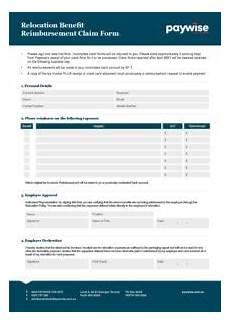 Relocation Benefit Paywise Relocation Benefit Reimbursement Claim Form