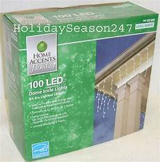 Home Accents Holiday Icicle Lights Home Accents 100 Led Dome Icicle Lights Cool White Holiday