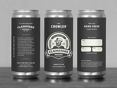 Crowler Label Design Claimstake Brewing Crowler Label By Steve Kulaga Dribbble